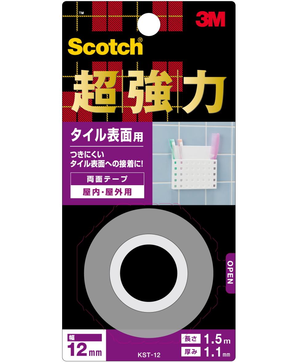 3M(スリーエム) 超強力両面テープ タイル表面用 KST-12小袋20個入り