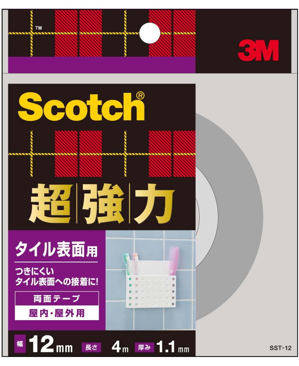 3M(スリーエム) 超強力両面テープ タイル表面用 SST-12小箱20個入り