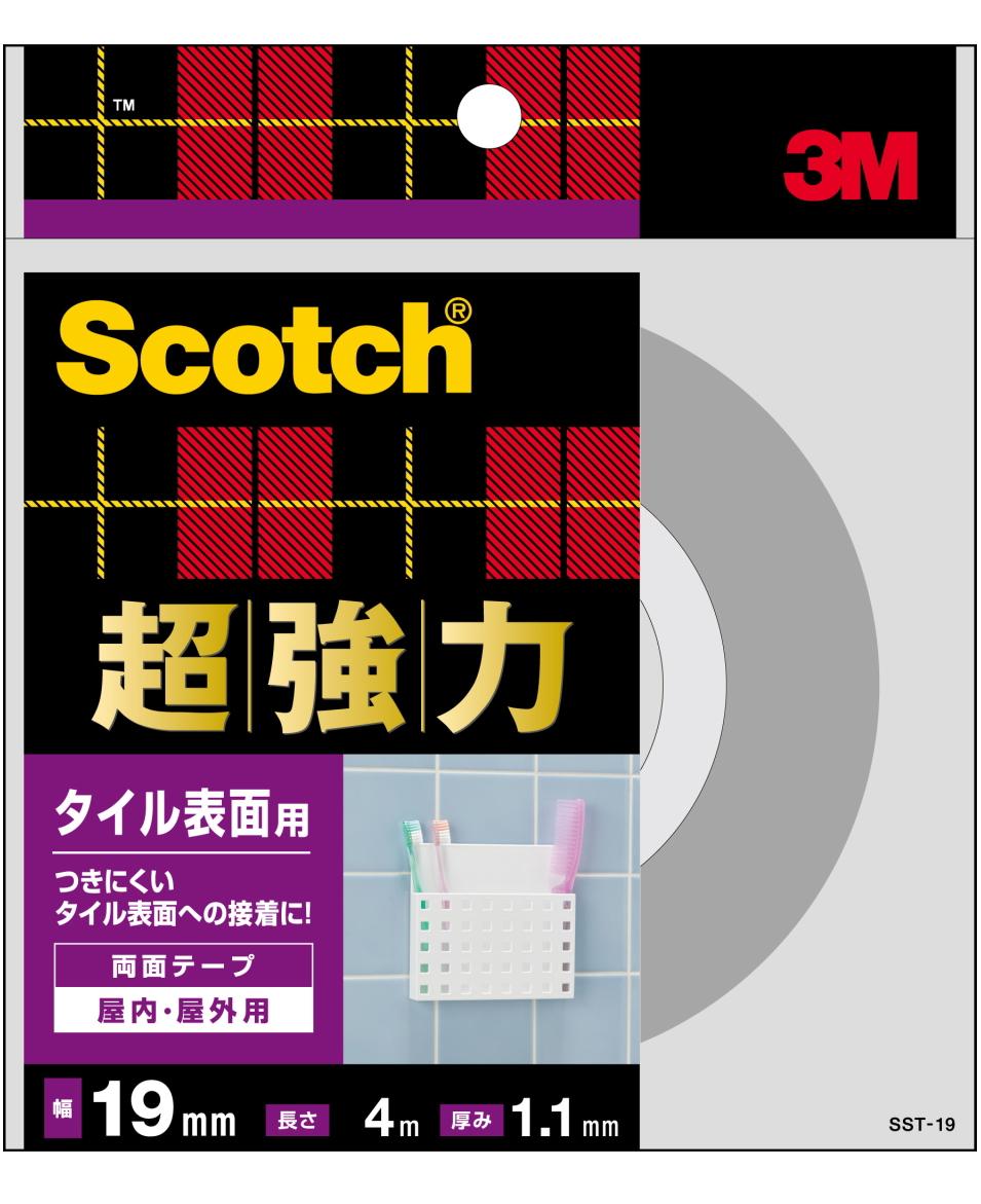 3M(スリーエム) 超強力両面テープ タイル表面用 SST-19小箱10個入り