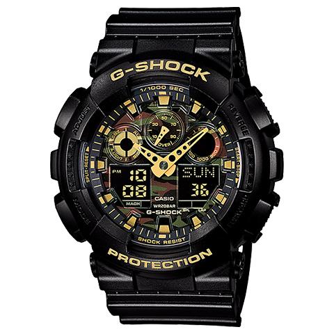 腕時計 G-SHOCK ジーショック カモフラージュ柄 GA-100CF-1A9JF メンズ時計【コンビニ受取対応商品】