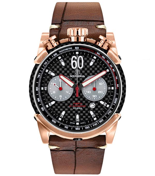 腕時計 CT SCUDERIA FIBRA DI CABONIO スクーデリア クォーツ クロノグラフ CS10159 メンズ時計【コンビニ受取対応商品】