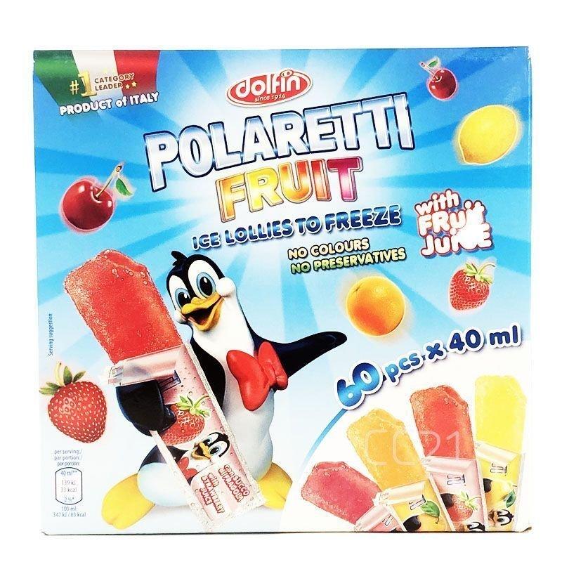 凍らせて 美味しい 着色料・防腐剤不使用 4種類の味♪ ポラレッティ フルーツ 40ml×60本入り 4種類 凍らせて食べる アイスキャンディー おやつ フルーツ果汁 コストコ 送料無料
