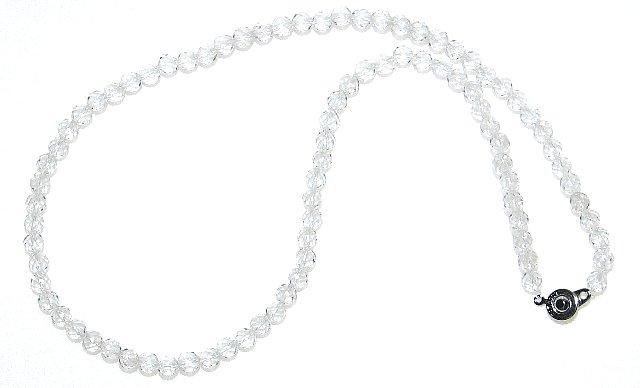 最高AAAグレード 32面カット 水晶 ネックレス【4月 誕生石】【6mm / 50cm】