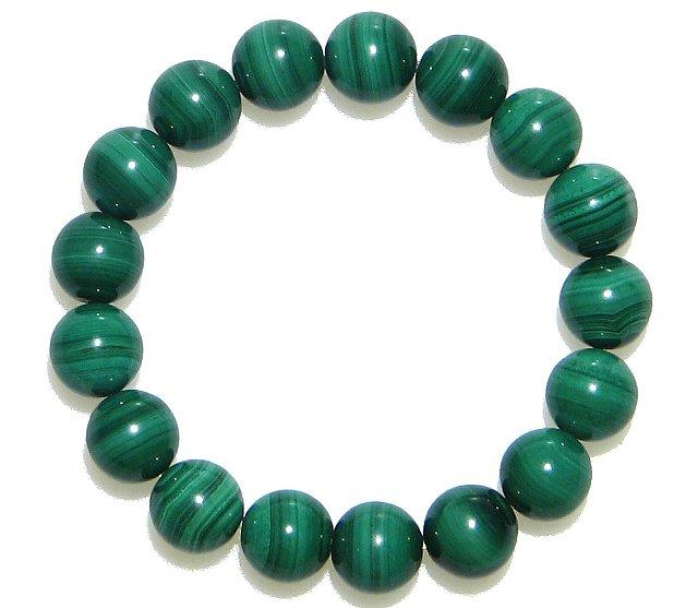 AA 縞模様が美しい マラカイト孔雀石12mm ブレスレット 15cm 16 5cm 18cm孔雀石 緑 グリーン 天然石 数珠 念珠 アクセサリー ジュエリー メンズ レディースIE9Y2WDH