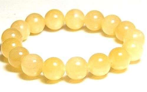 イエローカルサイト 黄翡翠 12mm 割引も実施中 ブレスレット 5月 誕生石 15cm 16.5cm 激安 18cm 20cm 数珠 アクセサリー 成功 ジェード 天然石 22cm ジュエリー メンズ レディース