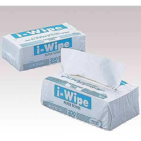 【本日ポイント5倍相当】アズワン株式会社 アイワイプ(i-Wipe) ホワイト 150枚(75組)×50袋入[品番:5-5378-04]