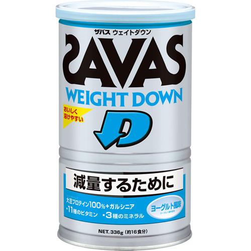 【本日ポイント5倍相当】明治ザバス(SAVAS) ザバスウェイトダウン16食分336g)×20個セット