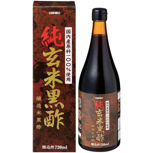 【ポイント13倍相当】オリヒロ株式会社純玄米黒酢 720ml×24本セット(この商品は注文後のキャンセルができません)