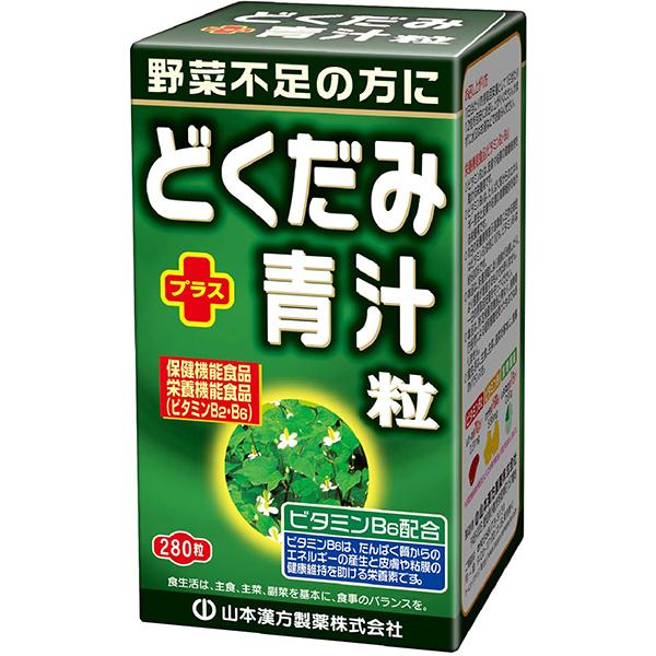 【ポイント13倍相当】山本漢方製薬株式会社 どくだみ+青汁サプリメント粒280粒×10個セット