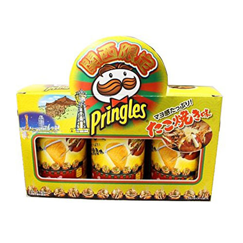 日本ケロッグ合同会社Pringles プリングルズ たこ焼き味 関西限定 (3缶入)×16個セット【北海道・沖縄は別途送料必要】
