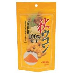 【ポイント13倍相当】オリヒロ株式会社秋ウコン粉末100% 150g×12個セット