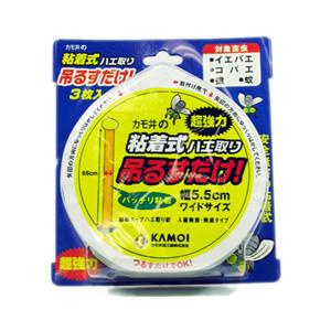 【ポイント13倍相当】カモイ加工紙粘着式ハエ取り 吊るすだけ!(3枚入)×80セット(商品到着まで6-10日間程度かかります)