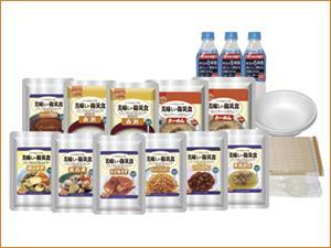 【ポイント13倍相当】(ただいま入荷未定です。1604)アルファフーズ株式会社美味しい防災食ファミリーセット(保存水有)BS10