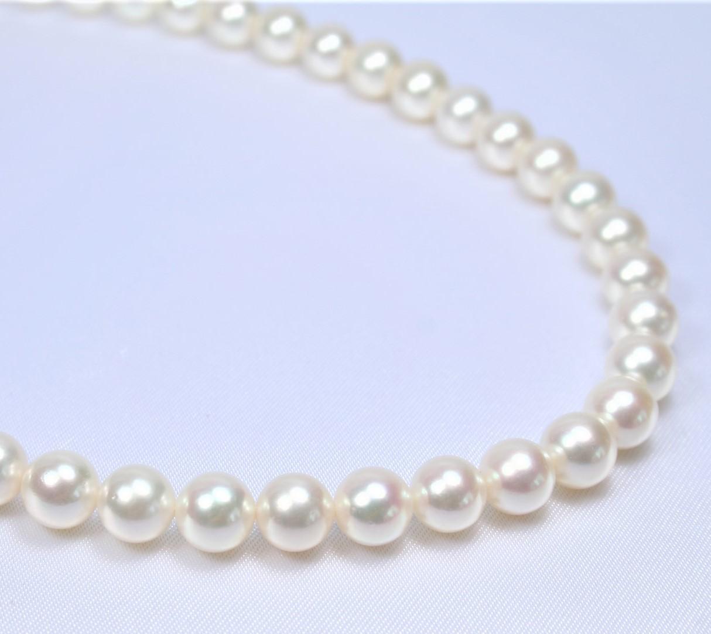 【アウトレット】日本産あこや真珠ネックレス(7-7.5ミリ)   (あこや真珠ネックレス、パールネックレス、真珠ネックレス、和珠ネックレス、アコヤパール、あこや真珠、アコヤ真珠、和珠、あこや本真珠)