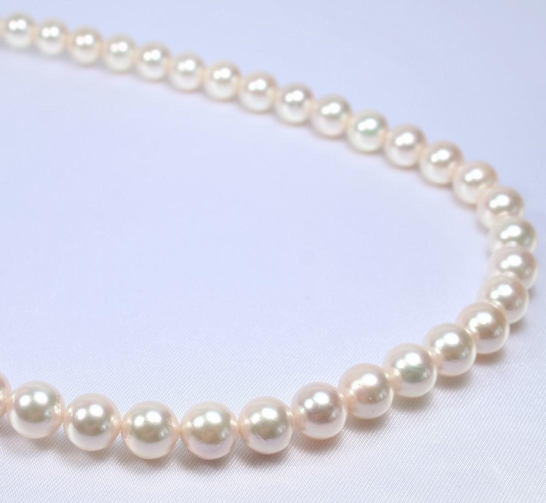 日本産あこや真珠ネックレス(8-8.5ミリ)   (あこや真珠ネックレス、パールネックレス、真珠ネックレス、和珠ネックレス、アコヤパール、あこや真珠、アコヤ真珠、和珠、あこや本真珠)