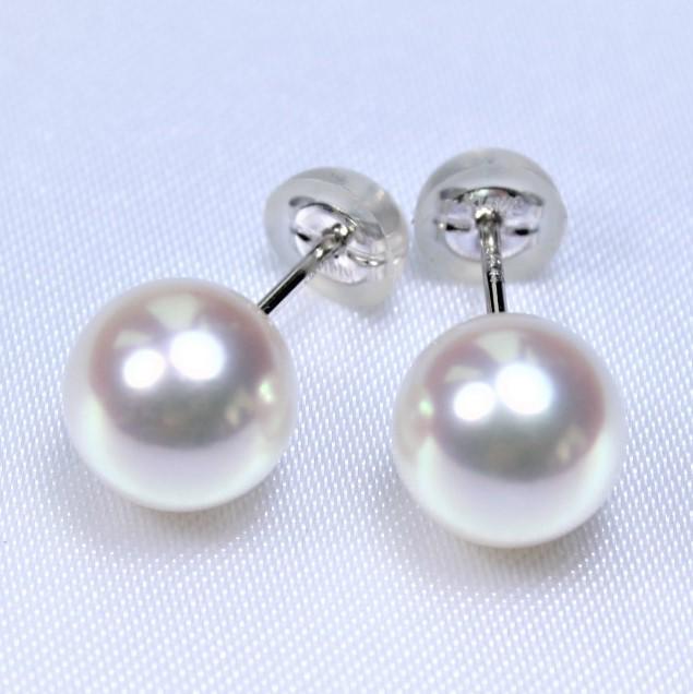 【送料無料】最上級品!日本産アコヤ真珠ピアス:8-8.5ミリ  (あこや真珠ピアス、パールピアス、真珠ピアス、和珠ピアス、アコヤパール、あこや真珠、アコヤ真珠、和珠、あこや本真珠)