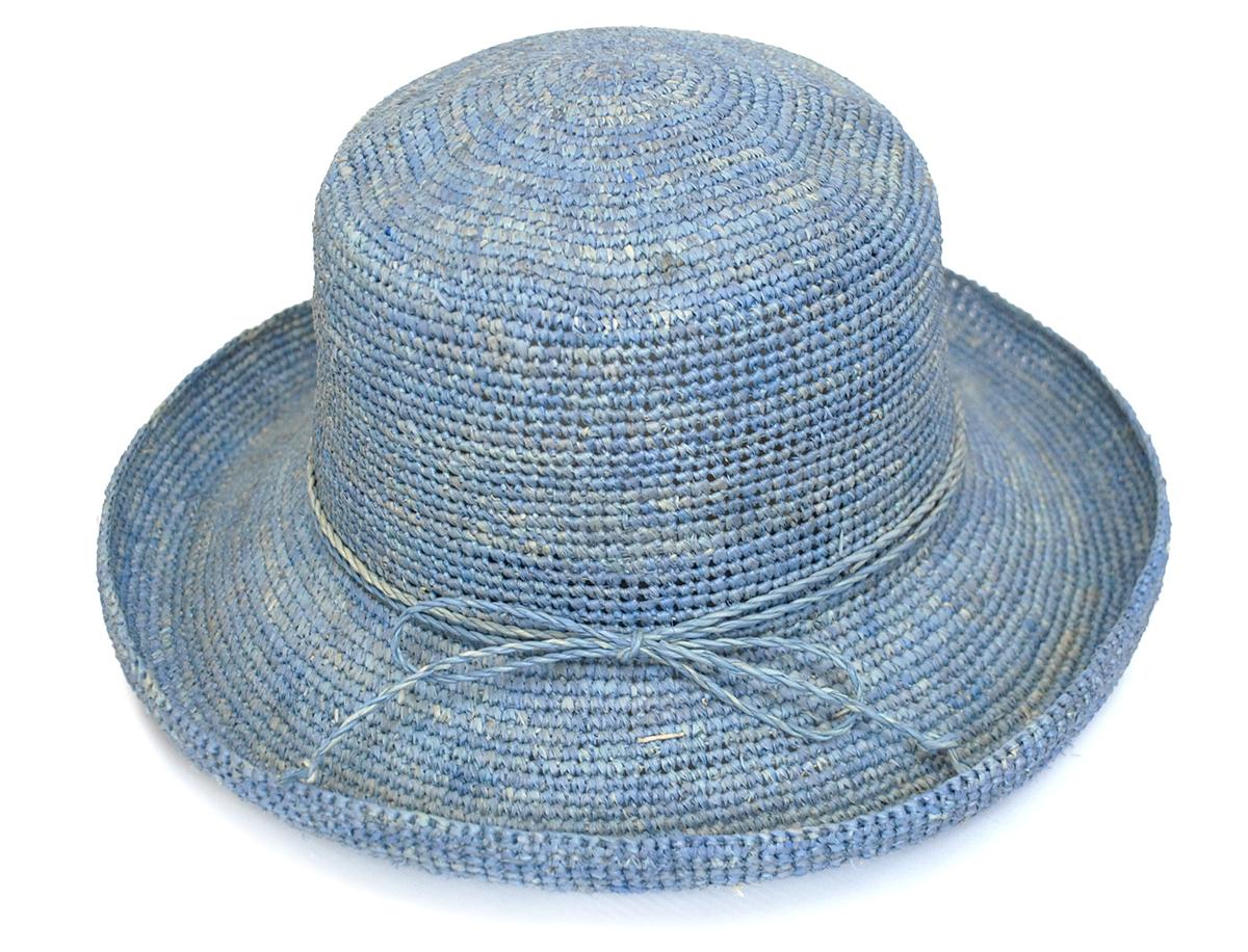 Folding ♪ simple crochet raffia Hat