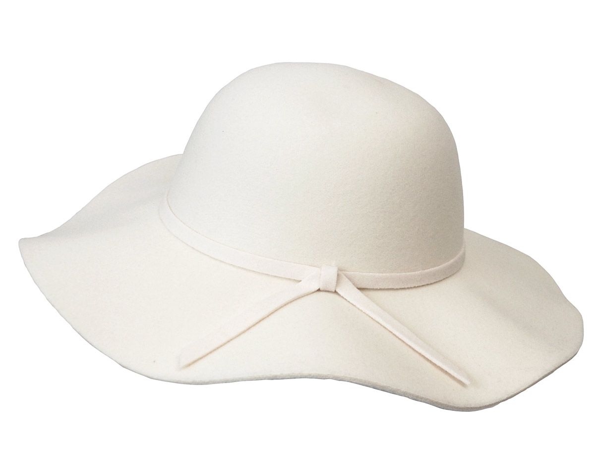 毛毡的带女演员帽子 * 颜色嘉宝毡帽