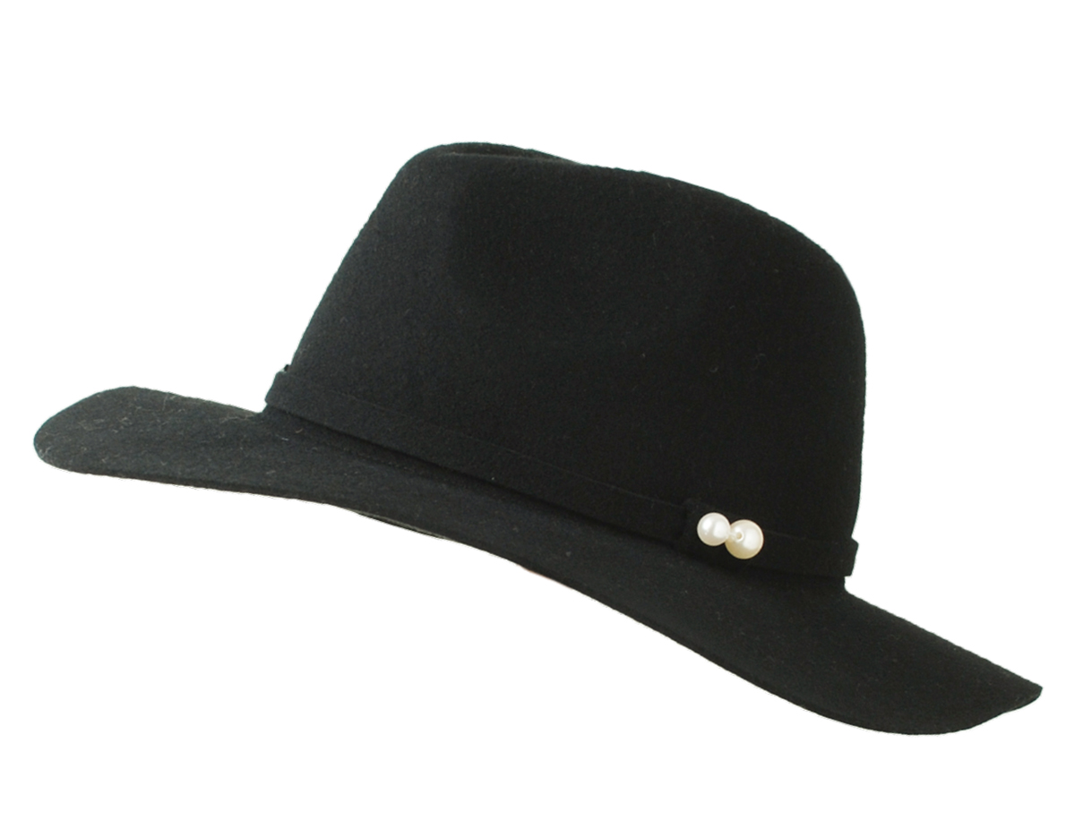 K-STYLE outlet hat  Broad-brimmed hat with the wool pearl  1979cf8e2