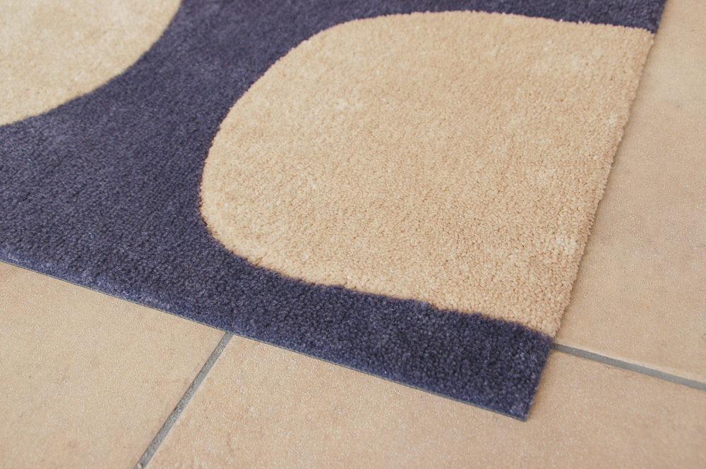 (Except Hokkaido, Okinawa and remote islands) ISHI - Ishi-door mat (gray) 45 x 60 cm made in Japan