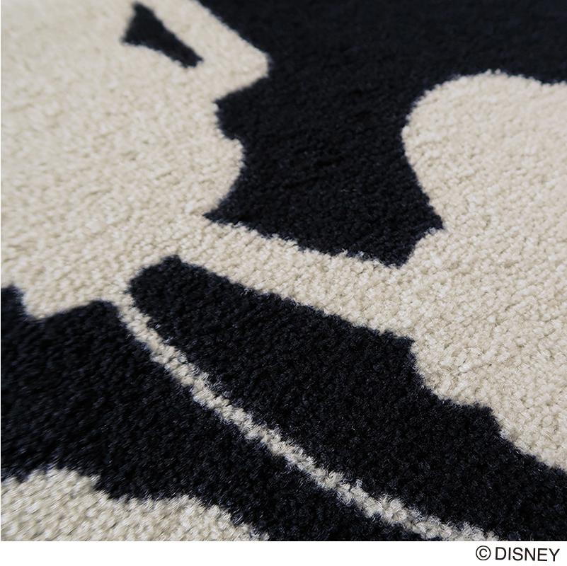 Disney ディズニー 名入れ 玄関マット Mickey Silhouette/ミッキー・シルエット 50 × 75 cm   屋外 室内 洗える 丸洗い 薄型 おしゃれ かわいい ずれない 滑り止め エントランスマット ドアマット 国産 日本製 クリーンテックス Kleen-Tex