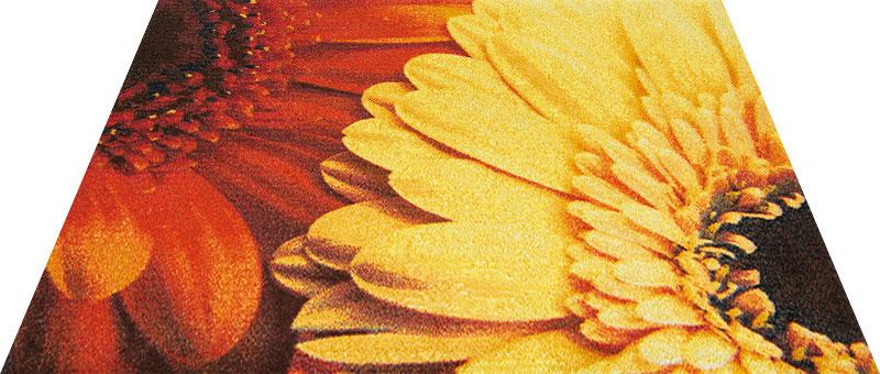 Office & Decor Gerbera_145x200 cm玄関マット エントランスマット Office&Decor オフィスマット 屋内 室内 自然 ナチュラル エレガント シンプル 70種類 洗える 花 ガーベラ