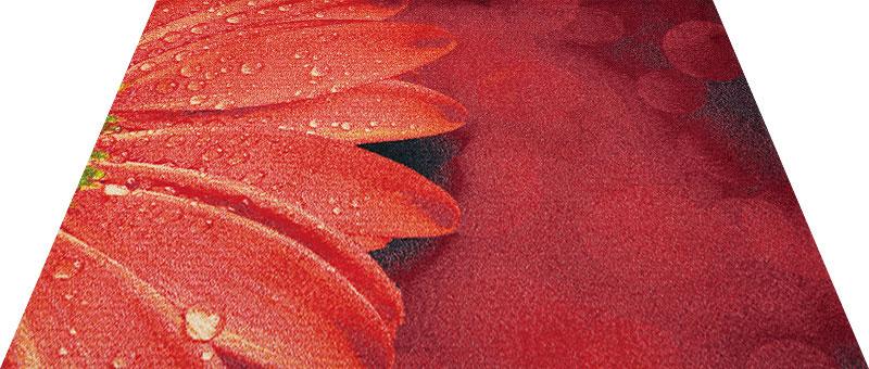 Office & Decor Red Floral_レット゛フローラル 120 x 160 cm玄関マット Office&Decor オフィスマット 屋内 室内 自然 ナチュラル エレガント シンプル 70種類 洗える 花 レッドフローラル