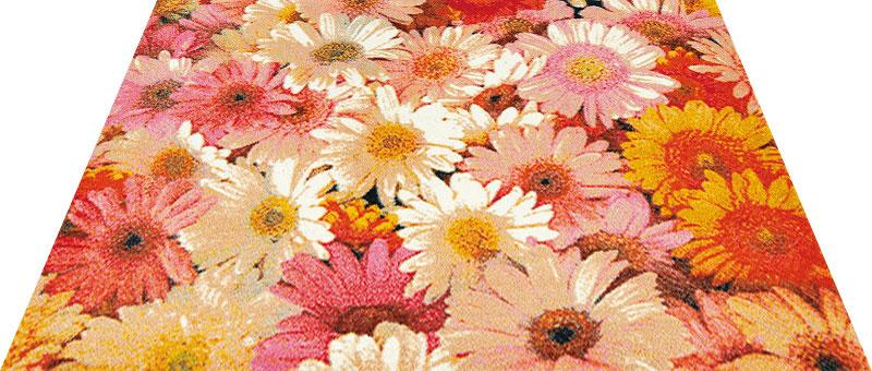 Office & Decor Flower Garden_フラワーカ゛ーテ゛ン 90 x 150 cm玄関マット Office&Decor オフィスマット 屋内 室内 自然 ナチュラル エレガント シンプル 70種類 洗える 花 フラワーカ゛ーテ゛ン