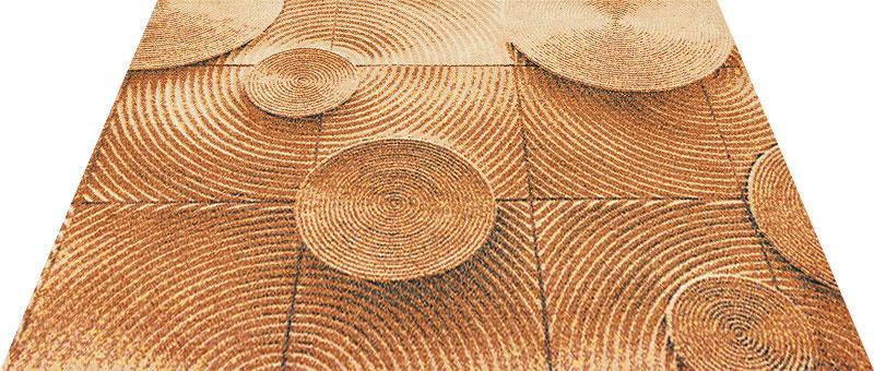 Office & Decor Woodchair ウッドチェアー 90×120 cm|玄関マット フロアマット オフィス 屋内 室内 自然 ナチュラル エレガント 70種類 日本製 洗える 木 Kleen tex