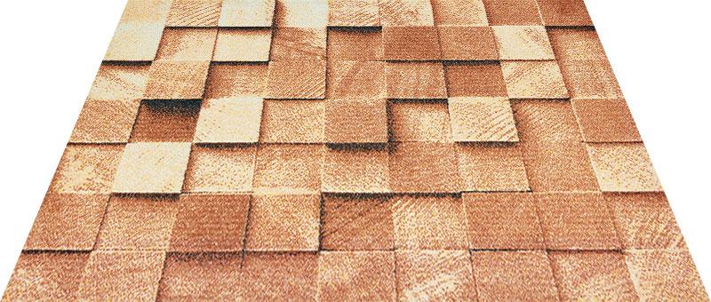 Office & Decor Block_フ゛ロック 145 x 200 cm玄関マット Office&Decor オフィスマット 屋内 室内 自然 ナチュラル エレガント 70種類 日本製 洗える 木 ウッド ブロック
