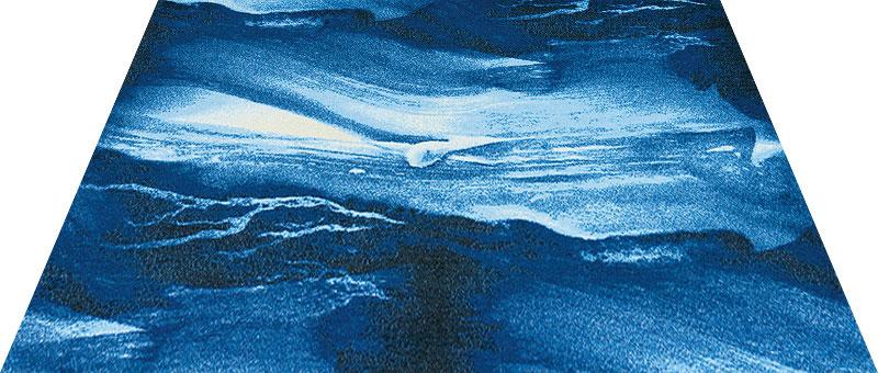 Office & Decor Blue Marble _フ゛ルーマーフ゛ル 145 x 200 cm玄関マット 屋内 室内 自然 Office&Decor オフィスマット ナチュラル エレガント 70種類 日本製 洗える 石 ストーン 青