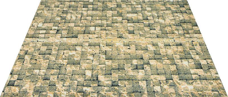 Office & Decor Brick Wall ブリックウォール 90×120 cm|玄関マット フロアマット 屋内 室内 自然 オフィス ナチュラル エレガント 70種類 日本製 洗える 石 大理石 Kleen tex