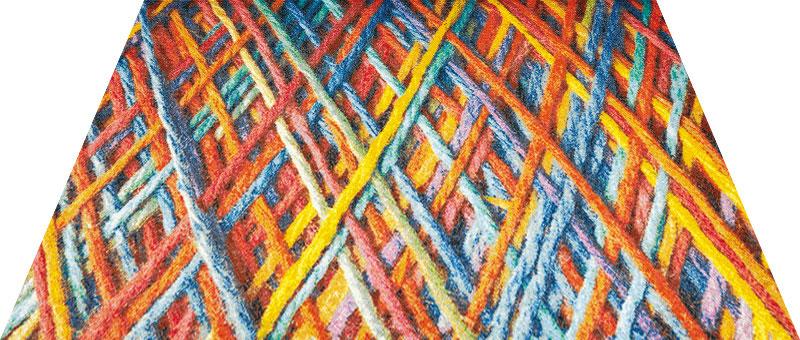 Office & Decor Natural Vivid Wool _ヴィヴィットウール 145 x 200 cm玄関マット 屋内 室内 自然 Office&Decor オフィスマット ナチュラル エレガント 70種類 日本製 洗える 質感 毛糸 ウール