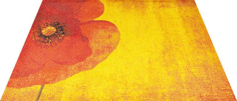Office & Decor Poppy ポピー 90×120 cm|玄関マット フロアマット 屋内 室内 自然 オフィス ナチュラル エレガント 70種類 日本製 洗える グリーン 花 リーフ Kleen tex