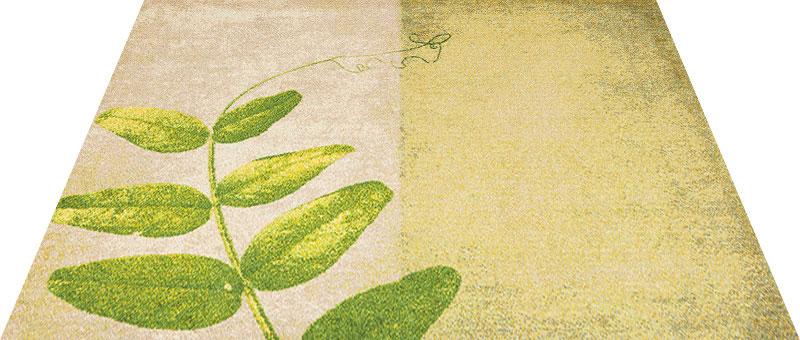 Office & Decor Pea Leaf _ヒ゜ーリーフ 90 x 120 cm玄関マット 屋内 室内 自然 Office&Decor オフィスマット ナチュラル エレガント 70種類 日本製 洗える グリーン 緑 リーフ