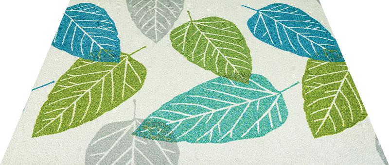 Office & Decor Gepresste_ケ゛フ゜レステ 90 x 150 cm玄関マット 屋内 室内 自然 Office&Decor オフィスマット ナチュラル エレガント 70種類 日本製 洗える グリーン 緑 リーフ