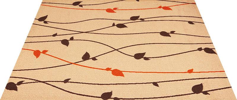 Office & Decor Brun_フ゛ラン 145 x 200 cm玄関マット 屋内 室内 自然 Office&Decor オフィスマット ナチュラル エレガント 70種類 日本製 洗える グリーン 緑 ウッド 木 リーフ