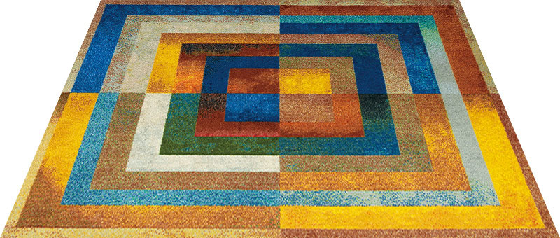 Office & Decor Squares_スクエアース゛ 145 x 200 cm玄関マット 屋内 室内 自然 Office&Decor オフィスマット ナチュラル エレガント 70種類 日本製 洗える