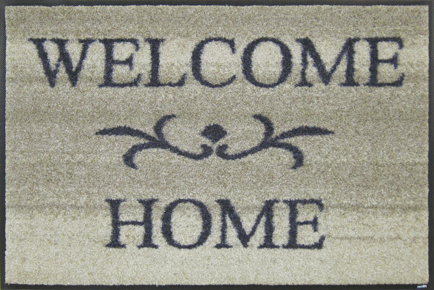(Excluding Hokkaido and Okinawa and remote islands) wash+dry (wash and dry) Welcome Home beige slim, sturdy washable door mat 50 x 75cm屋 in and outdoor use