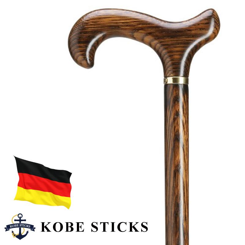 ゴールド お洒落 杖 TUE ドイツ製 つえ 神戸 sutekki/ドイツ製 tue 素敵 男性 金 オーク(樫)材本来の美しい木目を楽しむ紳士なステッキ スタイリッシュ 送料無料 かっこいい 一本杖 専門店 スマート おしゃれ 木製 ステッキ 高級