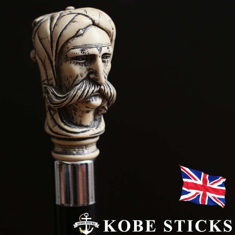 おしゃれ sutekki/アラビアの風を感じる かっこいい 高級 木製 イギリス製 TUE 専門店 神戸 素敵 tue つえ 送料無料 男性 一本杖 ステッキ 杖 お洒落 イギリス製アンティーク調ステッキ 重厚