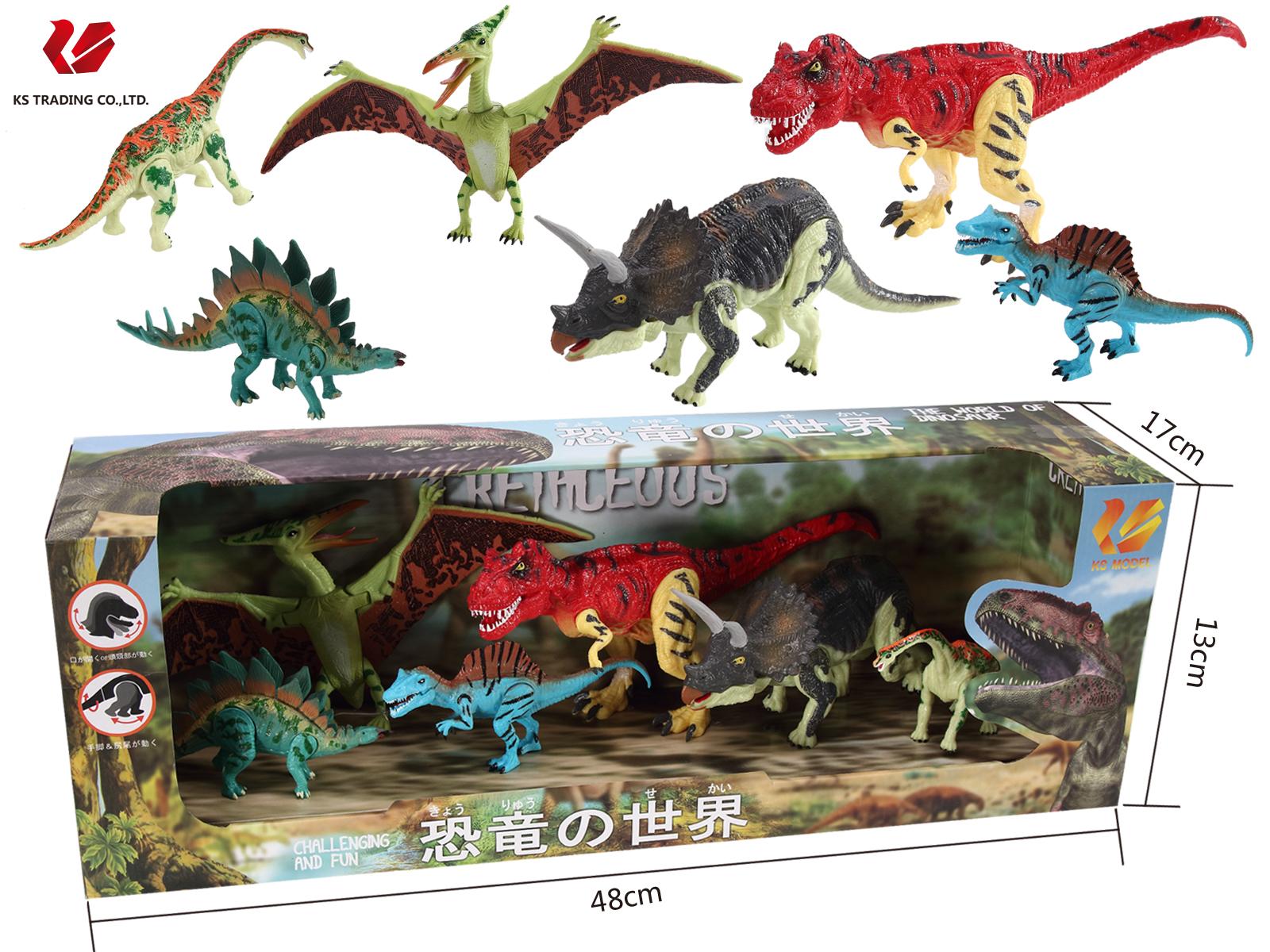 プレゼントに大人気!リアルで満足間違いなし!恐竜フィギア 6体セットX'masプレゼントや誕生日プレゼントに大人気! 恐竜おもちゃ 恐竜 フィギュア DINOSAUR MODEL ダイナソーモデル 本格的なリアルフィギュア【 フィギア ソフビ ソフトビニール 人形 模型 おもちゃ 玩具 】 可動できる恐竜おもちゃ 可動できる恐竜フィギュア 恐竜の世界セットD