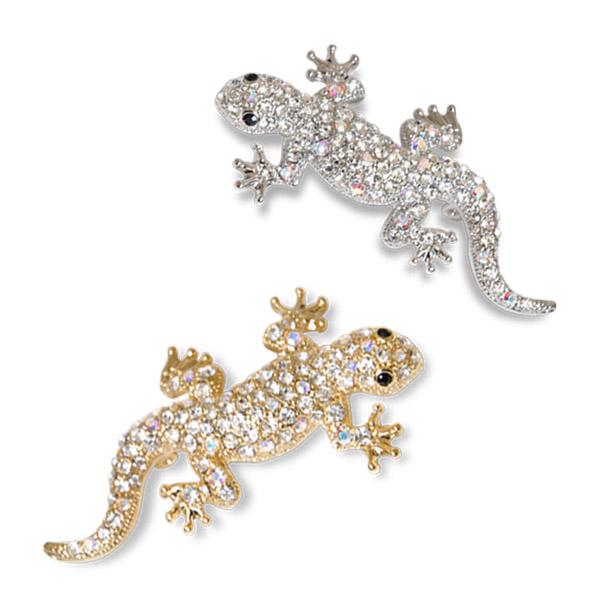☆☆DM service lizard broach (SK1B-3) lucky item good luck point accent  glitter brightness present