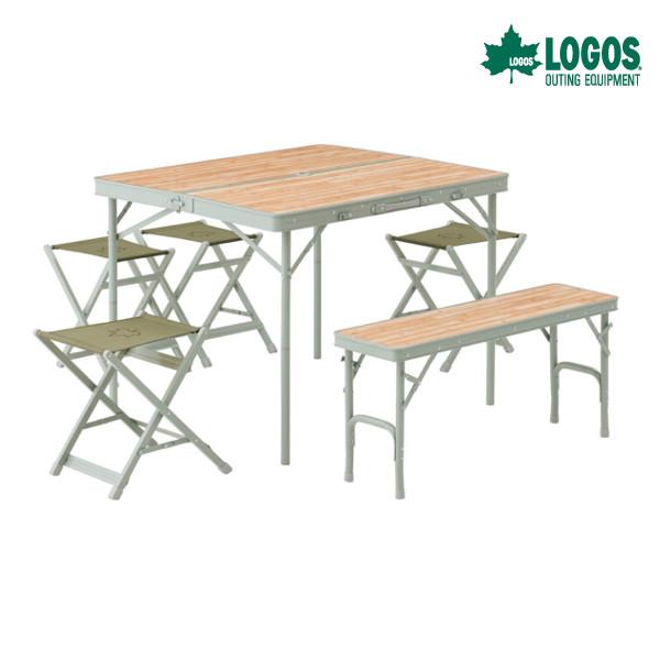 ロゴス LOGOS Life ベンチテーブルセット6 73183014