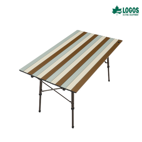 ロゴス LOGOS Life オートレッグテーブル 12070(ヴィンテージ) キャンプ用品 アウトドア 組立簡単 調節可能 収納バッグ付き 73185010