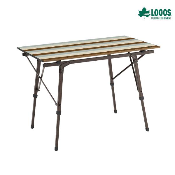 【5/5まで!期間限定1割引キャンペーン中】ロゴス LOGOS Life オートレッグテーブル 9050(ヴィンテージ) キャンプ用品 アウトドア 組立簡単 調節可能 収納バッグ付き 73185011