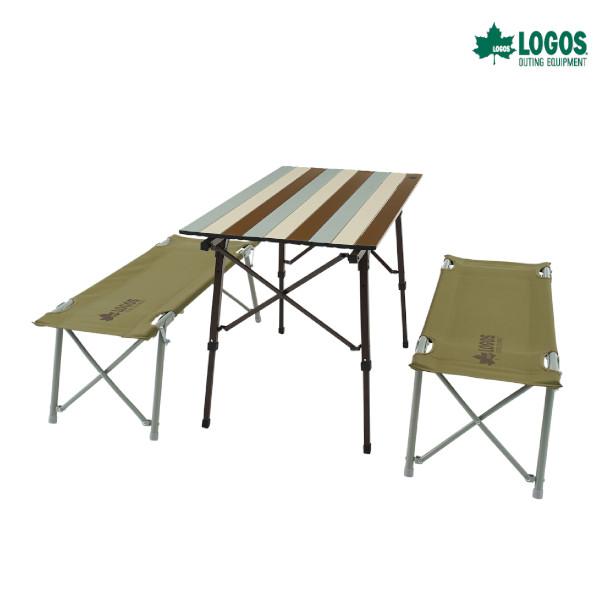 ロゴス LOGOS Life オートレッグベンチテーブルセット4(ヴィンテージ) アウトドア キャンプ 73188002