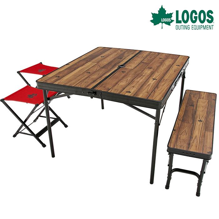 ロゴス Tracksleeper ベンチ&チェアテーブルセット4 73188004