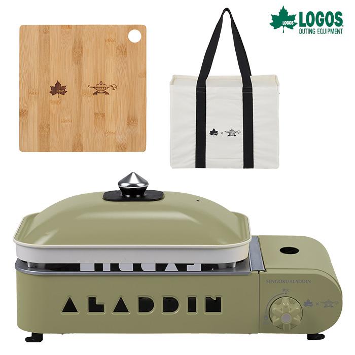 ロゴス LOGOS×SENGOKU ALADDIN ポータブルガスホットプレート プチパン(限定まな板付) 81060010