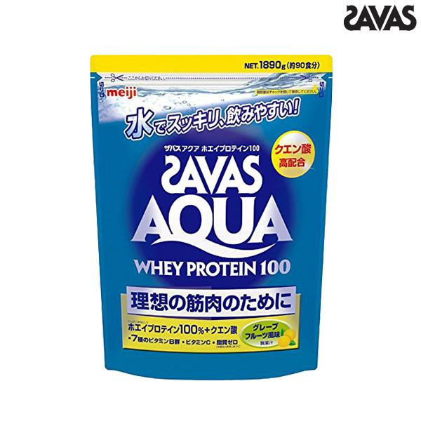 ザバス プロテイン アクア ホエイプロテイン100 グレープフルーツ スーパー(1.89kg/90食分) CA1329 SAVAS クエン酸 ビタミンb群 ビタミンc たんぱく質 タンパク質 スポーツ 筋トレ ジム フィットネス